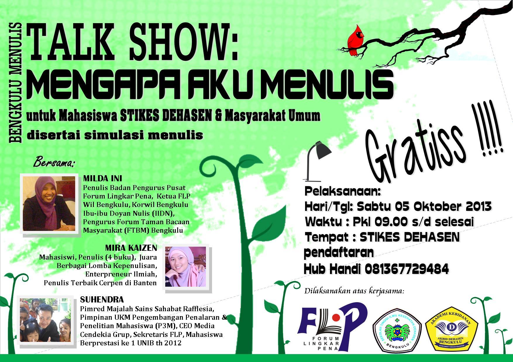 Talk Show FLP Bengkulu